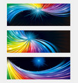 colorful banner background vector image vector image