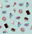 confectionary concept icons pattern vector image vector image