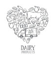 dairy product banner vector image vector image