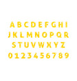 diamond alphabet font isolated vector image vector image