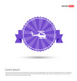 emergency helicopter icon - purple ribbon banner vector image vector image