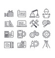 engineering and manufacturing icon set in vector image vector image