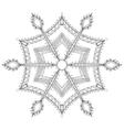 entangle stylized winter snowflake for christmas vector image