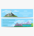 extreme travel and hiking banner set vector image vector image