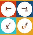 flat icon court set of defense tribunal crime vector image vector image