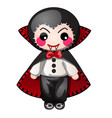 funny count dracula with contours in form of vector image vector image