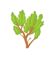 Green tree icon cartoon style vector image vector image