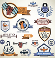 gym fitness emblems collection vector image