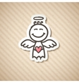 hand drawn angel vector image