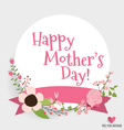Happy Mothers Day with Floral bouquets background vector image vector image