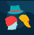 hats flat concept icon vector image