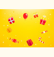 holiday concept with gift boxes frame vector image