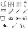 icons for working with linoleum vector image vector image