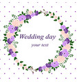 invitation card with flower frame wedding vector image