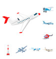 isolated object of plane and transport logo vector image