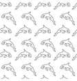 killer whale pattern seamless vector image vector image