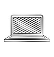 laptop computer doodle vector image vector image