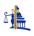 law justice firm sword balance logo design icon vector image vector image