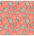 leaves on orange background vector image vector image