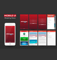 mobile app breaking news material design ui ux vector image