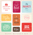 Mom Design Elements and Greeting Card Set vector image vector image
