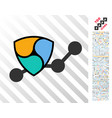 nem chart flat icon with bonus vector image vector image