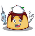nurse pudding character cartoon style vector image vector image