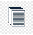 paper concept linear icon isolated on transparent vector image