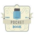 Pocket Book vector image