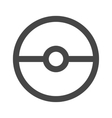 pokeball icon in gray color vector image