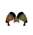 portrait beautiful african women wedding turban vector image vector image