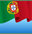 portuguese flag wavy abstract background vector image vector image
