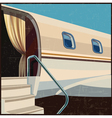 private aviation retro poster vector image vector image