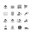 Real estate icons black vector image vector image