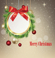 Round Christmas greeting banner