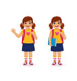school girl vector image vector image