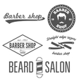 Set of vintage barber shop logo labels prints vector image vector image