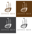 ship and coffee cup concept set vector image vector image