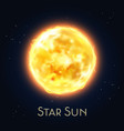 sun star icon flare fire solar system sphere vector image vector image