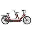 the red tandem bicycle vector image vector image
