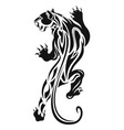 tiger 0002 black tribal tattoo vector image vector image