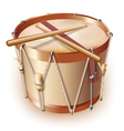 Traditional drum isolated on white background vector image