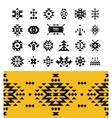 Tribal elements with hipster logo aztec vector image