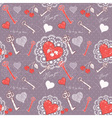 Valentine romantic love seamless pattern vector image vector image