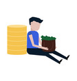 very rich man icon vector image
