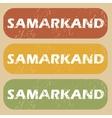 Vintage Samarkand stamp set vector image vector image