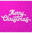White 3d lettering on purple Christmas background vector image vector image