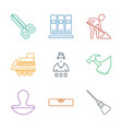 work icons vector image vector image