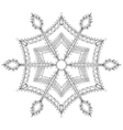 Zentangle stylized winter snowflake for Christmas vector image