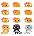 cartoon cat emotions vector image